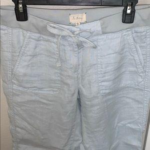 Loft Lou and grey light blue linen pants xs